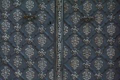 Detalhe de porta antiga do metal em Praga Imagem de Stock