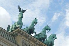 Detalhe de porta de Brandebourg Fotos de Stock Royalty Free