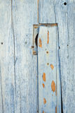 Detalhe de porta de madeira azul Fotos de Stock Royalty Free