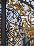 Detalhe de porta ornamentado no palácio de Tsarskoe Selo em Pushkin Rússia fotos de stock royalty free