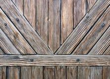 Detalhe de portas de madeira Fotos de Stock