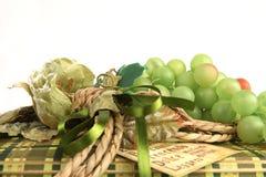 Detalhe de presente de Natal verde Fotografia de Stock Royalty Free