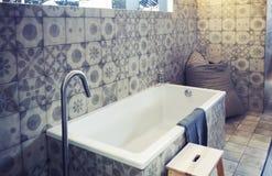 Detalhe de quarto do banho Foto de Stock