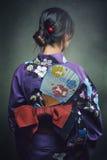 Detalhe de quimono tradicional Fotografia de Stock Royalty Free