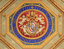Detalhe de Raphael Rooms (Stanze di Raffaello), Vaticano, Roma Imagens de Stock Royalty Free