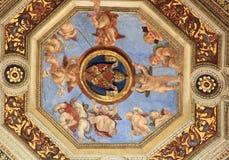 Detalhe de Raphael Rooms (Stanze di Raffaello), Vaticano, Roma Fotos de Stock