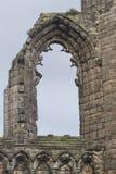 Detalhe de ruínas do arco do globo ocular de St Andrews Cathedral, Escócia Imagem de Stock