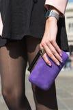 Detalhe de saco durante Milan Fashion Week Fotografia de Stock Royalty Free