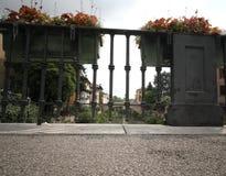 Detalhe de Saint Paul Bridge In Vicenza City imagens de stock