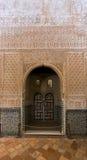 Detalhe de Salão dos embaixadores no complexo real de Alhambr Imagem de Stock