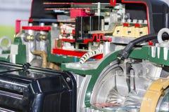 Detalhe de seção transversal dentro do ventilador industrial do centrifugador do eletroímã fotografia de stock royalty free