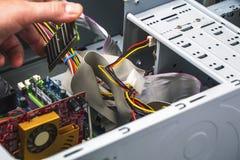 Detalhe de serviço de reparações do computador fotos de stock royalty free