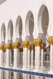 Detalhe de Sheikh Zayed Mesquita Imagens de Stock