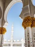 Detalhe de Sheikh Zayed Mosque Abu Dhabi Foto de Stock