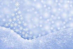 Detalhe de snowdrift e de árvore de Natal ilustração stock