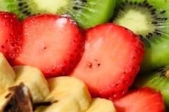 Detalhe de sobremesa da morango Foto de Stock