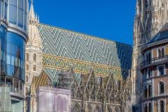 Detalhe de Stephansdom Viena Imagens de Stock