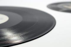 Detalhe de sulco espiral inscrito de um registro de vinil foto de stock royalty free