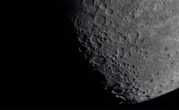 Detalhe de superfície da lua fotografia de stock royalty free