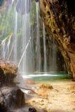 Detalhe de suspensão da cachoeira do lago Fotografia de Stock
