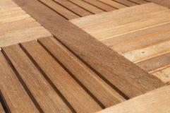 Detalhe de tabela da madeira da teca Foto de Stock