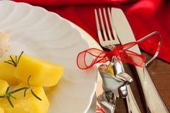Detalhe de tabela do Natal imagens de stock royalty free