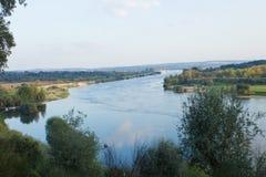 Detalhe de Tagus River que passa por Constância, Ribatejo, Portugal Fotografia de Stock