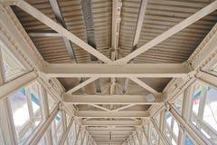 Detalhe de telhado do ferro fotos de stock