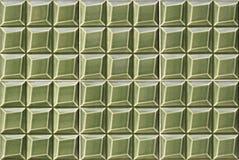 Detalhe de telhas vitrificadas verdes portuguesas Imagem de Stock