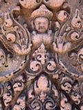Detalhe de templo de Banteay Srei Imagem de Stock Royalty Free