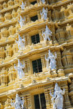 Detalhe de templo de Sri Chamundeswari Imagem de Stock