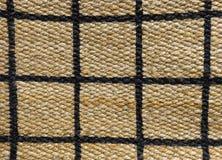 Detalhe de teste padrão pago da textura do Weave de cesta Fotografia de Stock