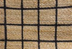 Detalhe de teste padrão pago da textura do Weave de cesta Fotos de Stock Royalty Free