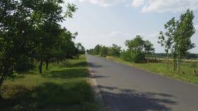 Detalhe de Toeroekszentmiklos na estrada secundária da rua de Szolnoki da periferia Fotos de Stock