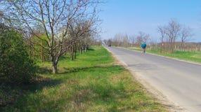 Detalhe de Toeroekszentmiklos na estrada secundária da rua de Szolnoki da periferia Fotografia de Stock Royalty Free