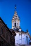 Detalhe de torre de Sapienza do alla de Sant'Ivo Fotos de Stock