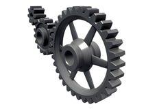 Detalhe de três rodas denteadas Imagem de Stock Royalty Free