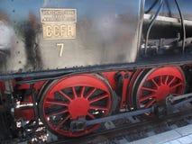 Detalhe de trem velho do vapor Foto de Stock