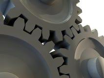 Detalhe de três engrenagens da roda denteada Imagens de Stock Royalty Free