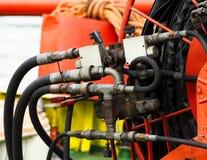 detalhe de tubulação hidráulica imagens de stock royalty free