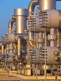 Detalhe de tubulações da indústria química Imagens de Stock Royalty Free