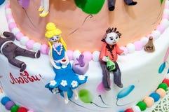 Detalhe de um bolo de casamento Imagens de Stock Royalty Free