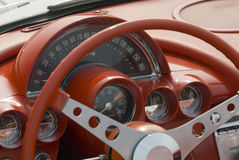 Detalhe de um carro clássico Imagens de Stock