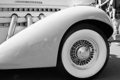 Detalhe de um carro clássico Foto de Stock