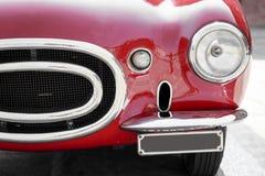 Detalhe de um carro vermelho do vintage Fotos de Stock Royalty Free