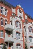 Detalhe de um condomínio de Art Nouveau Fotos de Stock