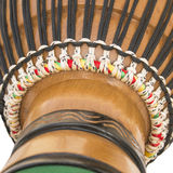 Detalhe de um Djembe africano Imagens de Stock Royalty Free