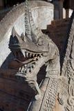 Detalhe de um dragão de pedra no templo de Pha Kaeo do Haw em Vientiane, Laos Foto de Stock Royalty Free