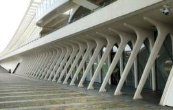 Detalhe de um edifício moderno fotografia de stock
