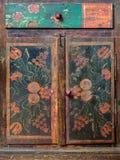 Detalhe de um gabinete do Dutch do 19o século Imagem de Stock Royalty Free